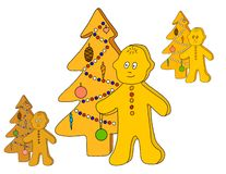 Gingerbread little man Stock Image