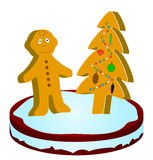 Gingerbread little man Royalty Free Stock Photography