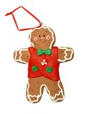 Gingerbread man 002 Stock Image