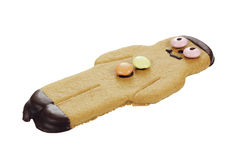 Gingerbread man. Gingerbread man biscuit on white background Stock Photos