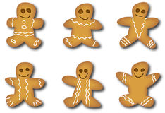 Gingerbread man royalty free illustration