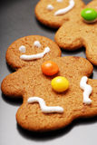 Gingerbread Man. On black background Stock Images