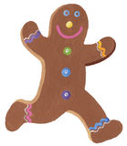 Gingerbread man. Acrylic illustration of Ginger bread man isolated on white background stock illustration
