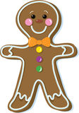 Gingerbread man. Gingerbread cookie decorated with candy and icing Stock Images
