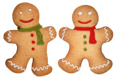 Gingerbread man. Christmas gingerbread man cookies isolated on white background stock illustration