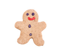 Gingerbread man. Isolated on white background Stock Photos