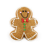 Gingerbread Man. Gingerbread cookie man isolated on white royalty free stock photography