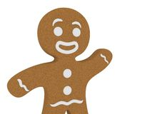 Gingerbread man. Happy gingerbread man isolated on white background Royalty Free Stock Images