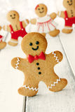 Gingerbread man. With bow tie and buttons Royalty Free Stock Image