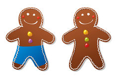 Gingerbread man. On white background vector illustration