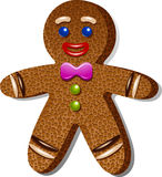 Gingerbread man royalty free illustration
