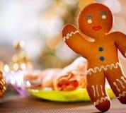 Gingerbread Man. Christmas Holiday Food Stock Photo