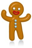 Gingerbread Man. Illustration with white background Stock Image
