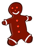 Gingerbread Man. Caricature of gingerbread for festive season Royalty Free Stock Photography