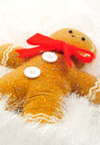 Gingerbread Man. Posed for christams decoration photographed in a studio setting Stock Images