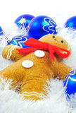 Gingerbread Man. Posed for christmas decoration photographed in a studio setting Royalty Free Stock Photo