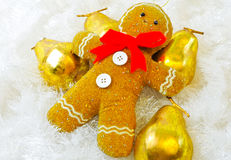 Gingerbread Man. Posed for christams decoration photographed in a studio setting Royalty Free Stock Photo