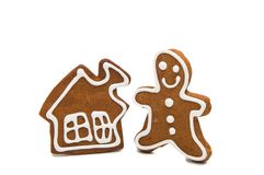 gingerbread man baked isolated Stock Photos