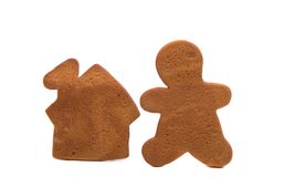 Gingerbread man baked isolated Royalty Free Stock Image
