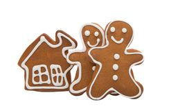 Gingerbread man baked isolated Royalty Free Stock Photo