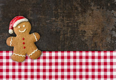 Gingerbread man on a baking tray Royalty Free Stock Photo
