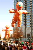 Gingerbread Man Balloons Float Through Atlanta Christmas Parade Stock Photo