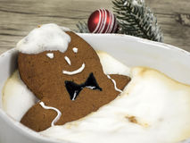 Gingerbread man in the bathtub Stock Photography