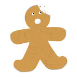 Gingerbread man bite Royalty Free Stock Photos