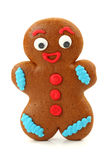 Gingerbread man and blank card royalty free stock photo