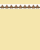 Gingerbread man border  Royalty Free Stock Photo