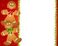 Gingerbread Man Border 2. A border illustration featuring gingerbread men in a row stock illustration