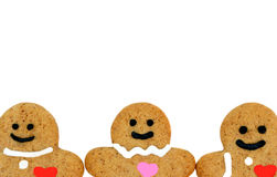 Gingerbread man border Stock Photos