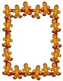 Gingerbread Man Border or Frame. A clip art illustration of a gingerbread man border or frame vector illustration
