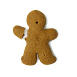 Gingerbread man with broken hand Royalty Free Stock Image