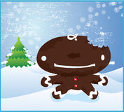 Gingerbread Man Christmas Royalty Free Stock Images