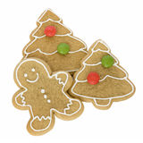 Gingerbread man with Christmas cookies royalty free stock photography