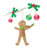 Gingerbread man christmas decoration Royalty Free Stock Photo
