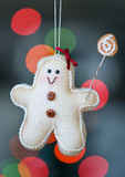 Gingerbread man christmas decoration Royalty Free Stock Images