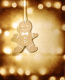 Gingerbread man Christmas decoration Royalty Free Stock Photos