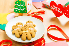 Gingerbread man for christmas Royalty Free Stock Images