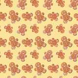 Gingerbread man christmas seamless pattern Royalty Free Stock Photography