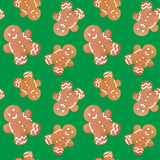 Gingerbread man christmas seamless pattern Royalty Free Stock Images