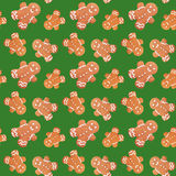 Gingerbread man christmas seamless pattern Stock Images