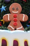 Gingerbread Man on the Christmas tree Royalty Free Stock Image