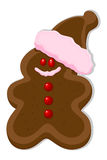 Gingerbread Man - Christmas Vector Illustration Royalty Free Stock Image