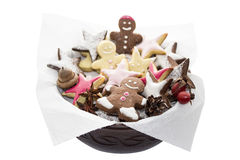 Gingerbread man with clipping path Stock Image