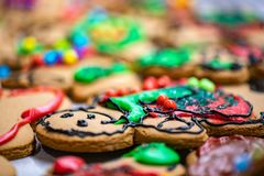 Gingerbread man with blurred out surroundings. stock images