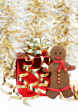 Gingerbread man cookie Stock Images