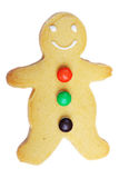 Gingerbread man cookie. Isolated on white background stock image