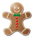 Gingerbread Man Cookie. Cute Gingerbread Men Cookie for Christmas royalty free illustration